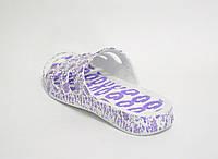 Шлепанцы фиолет женские