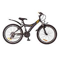 """Велосипед 24"""" Formula STORMY AM 14G  Vbr  рама-13"""" St черно-оранжевый (м)  с крылом Pl 2017"""