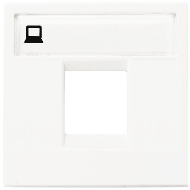 ABB Zenit Лицевая панель одинарных комуникационных розеток (2 модуля) белая