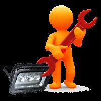 Ремонт светодиодных трековых светильников и прожекторов