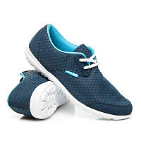 Женские низкие кроссовки синего цвета