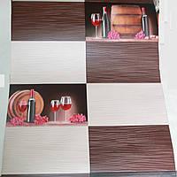 Обои бочки плитка коричневый беж 0,53/10 м