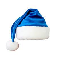 Шапочка новогодняя синяя