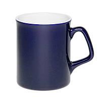 Чашка керамическая Джокер. Цвет - синий. Для нанесения логотипа методом обжиговой деколи