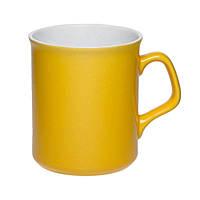 Чашка керамическая Джокер. Цвет - желтый. Для нанесения логотипа методом обжиговой деколи
