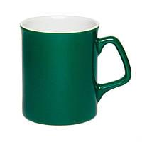 Чашка керамическая Джокер. Цвет - зеленый. Для нанесения логотипа методом обжиговой деколи