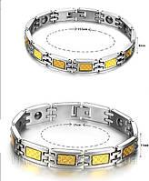 Набор турмалиновых магнитных браслетов  с кулонами 4в1