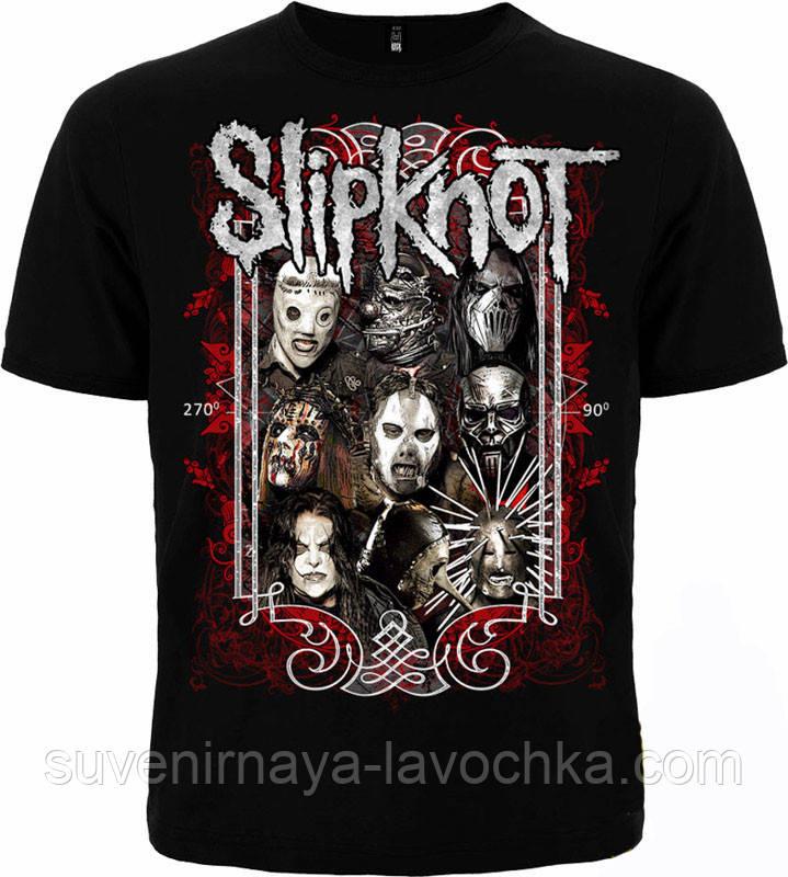 Рок футболка Slipknot (узор)