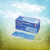Маска защитная STYLE BLUEBERRY  3-слойная темно-синяя (50 шт/уп), AMPri