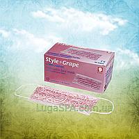 Маска защитная STYLE GRAPE 3-слойная бордовая (50 шт/уп), AMPri