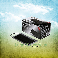 Маска защитная STYLE BLACK  4-слойная черная (50 шт/уп), AMPri
