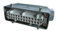 Разъем промышленный 24P+E (штепсель) в кожухе на кабель EBM24FU10
