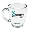 Чашка стеклянная на 325 мл. Для нанесения логотипа методом обжиговой деколи