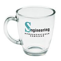 Чашка стеклянная на 325 мл. Для нанесения логотипа методом обжиговой деколи, фото 1