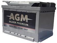 Аккумулятор автомобильный  AGM Silver -65A +прав (640 пуск)