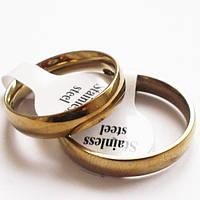 Обручальные кольца. Сталь 316L, покрытие золото. Размеры 16, 17, 18, 19, 20, 21.