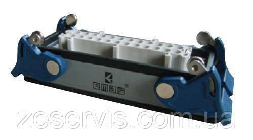 Разъем промышленный 10P+E (розетка) в корпусе на на панель EBM10PM44