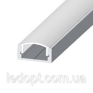 Алюминиевый профиль накладной для светодиодной LED ленты не анодированый