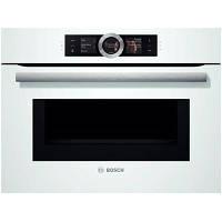 Духовой шкаф с микроволновым режимом Bosch CMG 6764 W1 ( электрическая, 45 л )