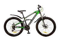 """Велосипед 26"""" Formula BLAZE AM2 14G DD рама-15"""" St черно-салатный с крылом Pl 2017"""