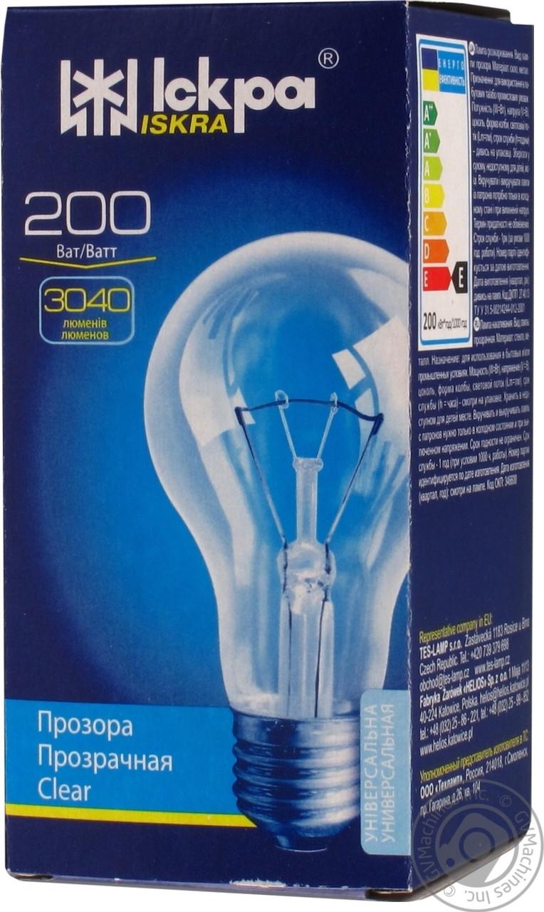 Лампа ЛЗП Искра B66 230В 200Вт Е27