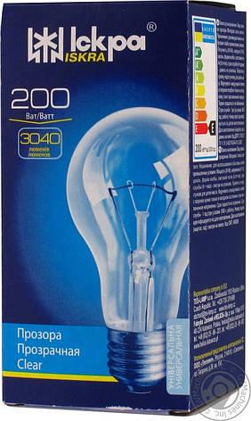 Лампа ЛЗП Искра B66 230В 200Вт Е27 , фото 2