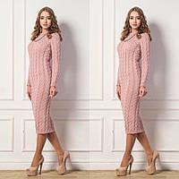 Стильное вязаное платье (115см.)