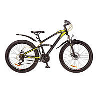 """Велосипед 26"""" Formula BLAZE AM2 14G DD рама-15"""" St черно-желтый с крылом Pl 2017"""