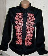 """Вышитая женская рубашка """"Дивограй"""" с длинным рукавом ( арт. CK1-162.0.0 ), фото 1"""