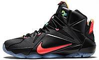 Баскетбольные кроссовки Nike Lebron 12 (найк леброн) черные