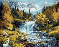 Картина по номерам MR-Q1217 Горная речка (40 х 50 см) Mariposa