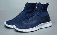 Женские кроссовки Nike Free Flyknit Mercurial blue