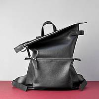 Кожаный рюкзак большой Voyager Blak