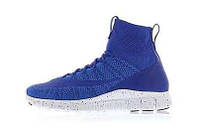 Женские кроссовки Nike Free Flyknit Mercurial синие