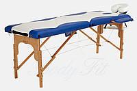 Массажный стол BODYFIT 2 сегментный 2-цветный деревянный