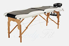 Массажный стол BODYFIT 2 сегментный 2-цветный деревянный, фото 3