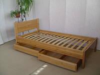 """Дерев'яне односпальне ліжко """"Економ"""", фото 1"""