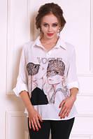 Блуза рубашка  женская(44-48), доставка по Украине