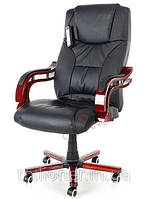 Кресло офисное массаж Prezydent Calviano (черное)