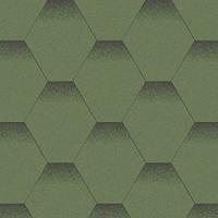 Плитка коньково-карнизная для битумной черепицы Акваизол (зеленая)