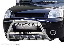 Кенгурятник для Citroen Berlingo 2002-2007 с лого (AISI304)