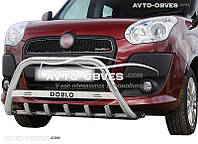 Кенгурятник для Fiat Doblo III 2010-2014 с лого (AISI304) Ø51*1,6мм