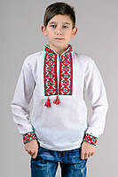 Вышиванка белая для мальчика с длинным рукавом, фото 1