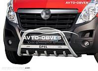 Кенгурятник для Opel Movano 2011 - … с лого (AISI304 Ø60мм)