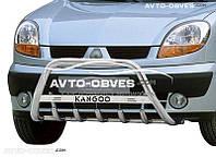 Кенгурятник для Renault Kangoo 2002-2007 с лого (AISI304)