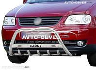 Кенгурятник для Volkswagen Caddy 2004-2010 с лого (AISI304 Ø60мм)