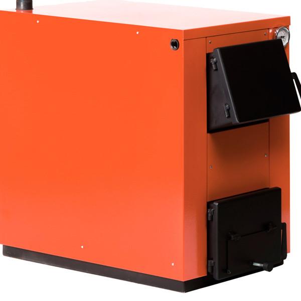 Твердотопливный котел Макситерм 20 (оранжевый) с косой загрузкой топлива