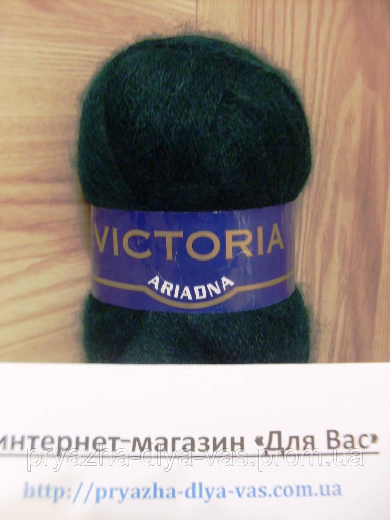 Мохеровая пряжа (35%-мохер, 65%-акрил, 100г/600м) Victoria Ariadna 204(тёмн.зелёный)