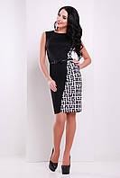 Элегантное черное платье с принтом Мозаика сукня Кристоль б/р
