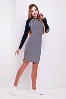 Спортивное полосатое платье сукня Белана д/р